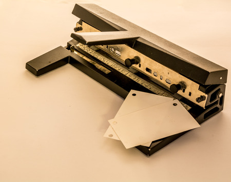 paper puncher: Paper Puncher heavy duty Stock Photo