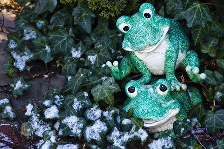 Happy green fellows at play
