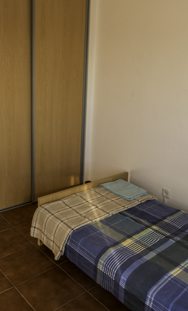 renovated: Dorm room of a lucky student in Portugal, fresh and renovated, Stock Photo