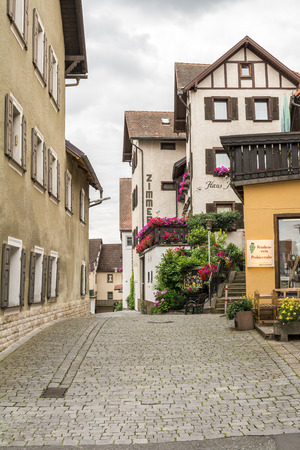 Side street view in a small town, Bavaria, Germany