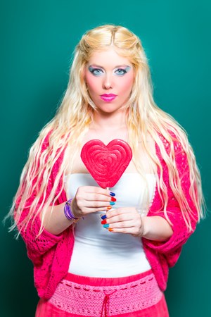 unblemished: Blonde beauty with Lollipops in Hand