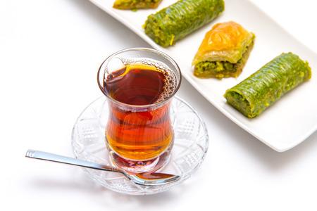 mit: Englisch mit tee baklava