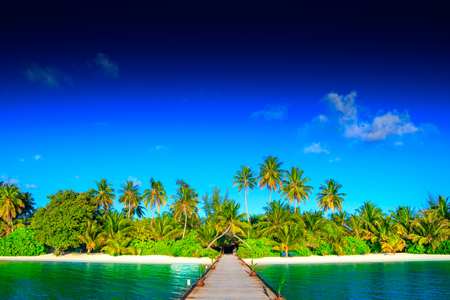 Dream island on Maldives Stock Photo