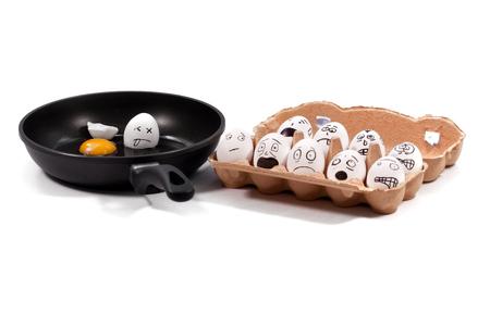 Funny eggs 스톡 콘텐츠