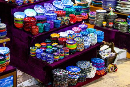 Souvenir shop in Istanbul - porcelain