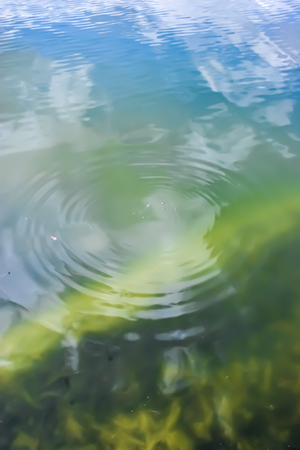 Water waves and reflection 스톡 콘텐츠
