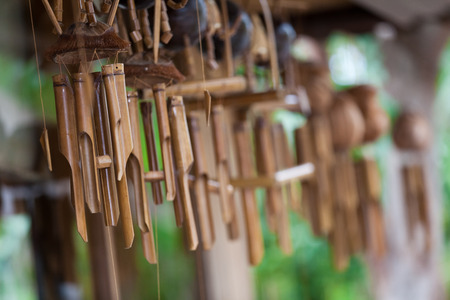 Wind Chimes  in the air Stock Photo