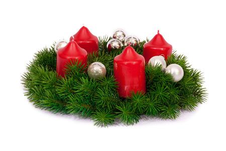 Adviento de decoración navideña