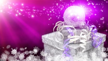Christmas gift box Foto de archivo