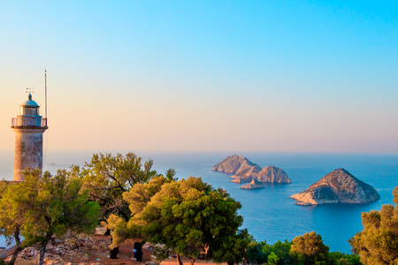 Gelidonya lighthouse on Lycian Way Stock Photo