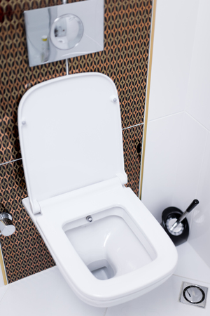 clean modern toilet bowl