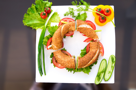 Breakfast with the sesame ring