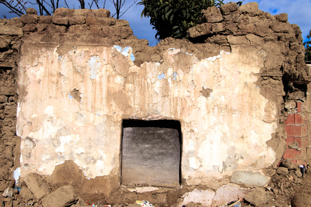 Destroyed House Wall 写真素材