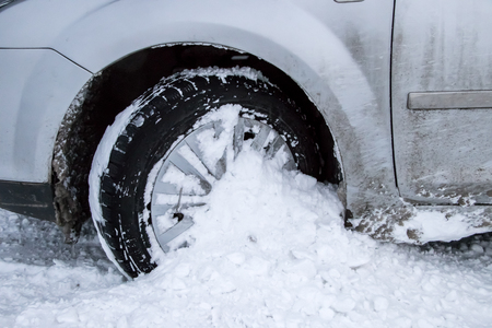 Car Tire in Winter