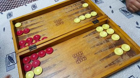 Tavla - Backgammon Stock Photo