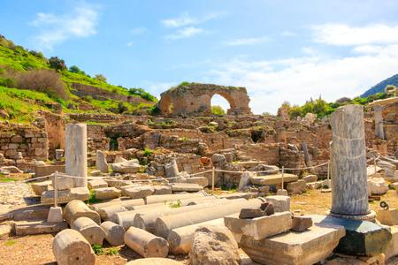 The ancient city of Ephesus in Turkey Stok Fotoğraf