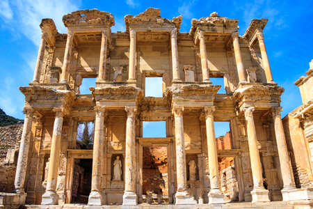 The ancient city of Ephesus in Turkey Stock Photo