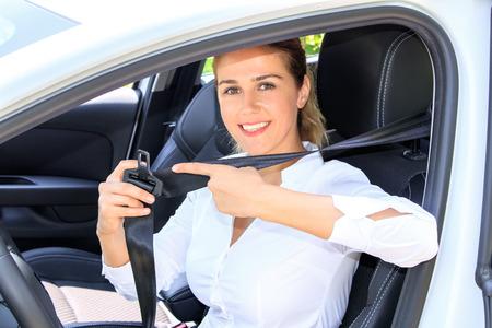Car driver woman Stockfoto
