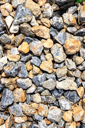 Gravel stones small and big
