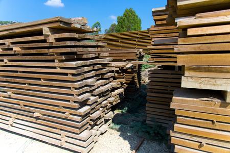 Timber factory Stock Photo