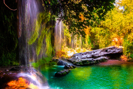 Kursunlu Waterfalls Turkey Stockfoto