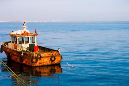Shipyard in sea Stock Photo