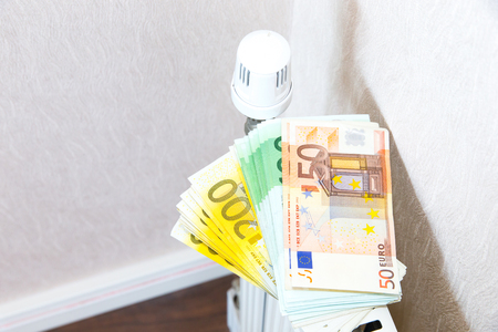 Heating costs Stockfoto