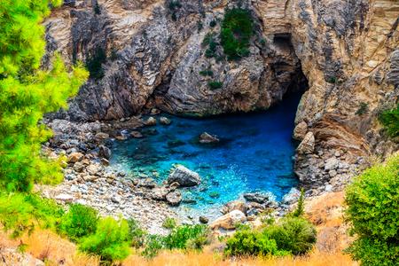 Secret Sea Bay In Antalya Turkey Stock Photo