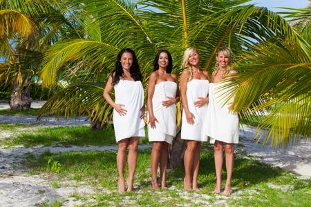 Girl group in Maldives Stok Fotoğraf