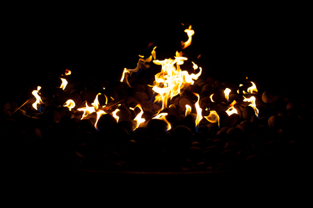 Flames natural light