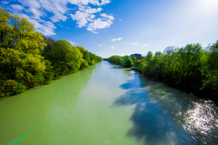 Isar river in Munich Germany