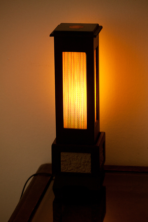 Buddhism light decor Stock Photo