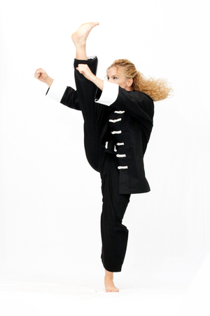 Kung Fu Girl Stock Photo