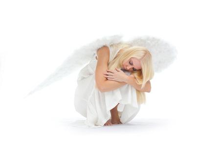 Angel on earth Stock Photo