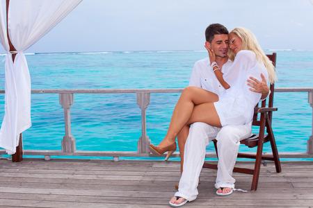 Loving couple in the Maldives