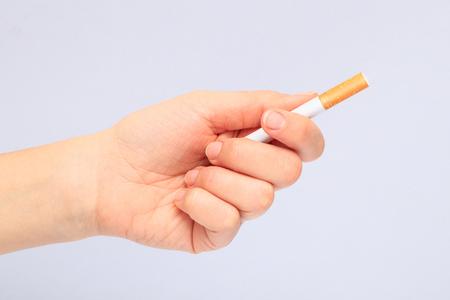 Cigarette in the hand