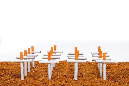 Smoking kills, smokers graveyard concept