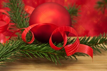 beautiful holiday composition with New Year and Christmas attributes Stock Photo - 16452885
