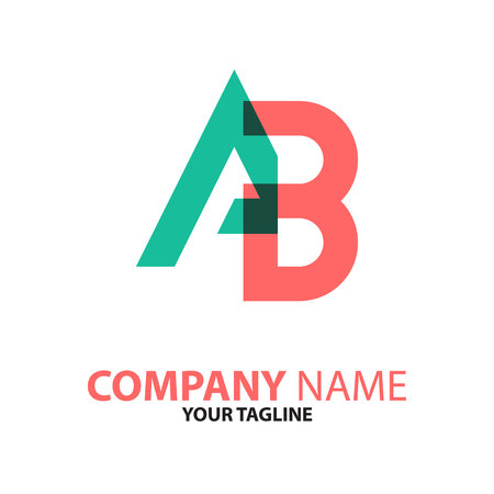BA AB initial logo concept Vector illustration.
