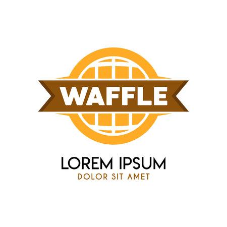 World Waffle Logo Concept Vector illustration. Illustration