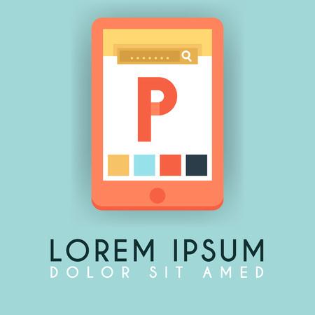 P Letter Smartphone e commerce Application Logo Design