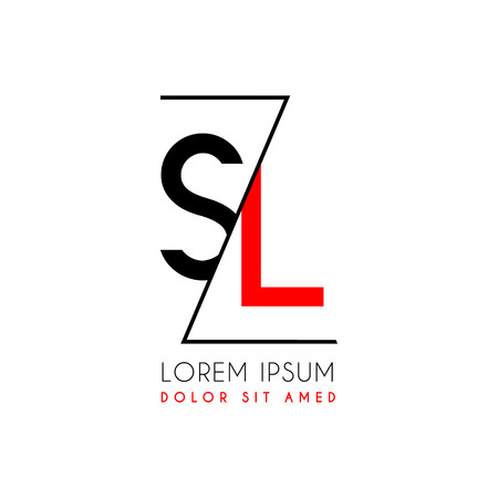 Letters S and L icon separated by a black zigzag line.
