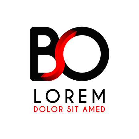 BO Letter black logo with gradient arrow