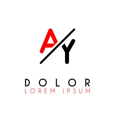 Logo A slash Y with black red