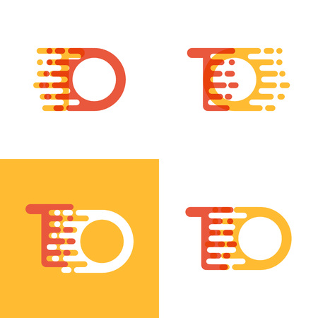 TO letters logo with accent speed soft orange and yellow Çizim