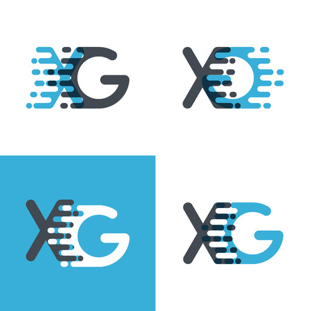 XG letters  with accent speed soft blue and soft gray