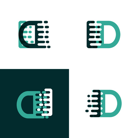 ID letters logo with accent speed in light green and dark green