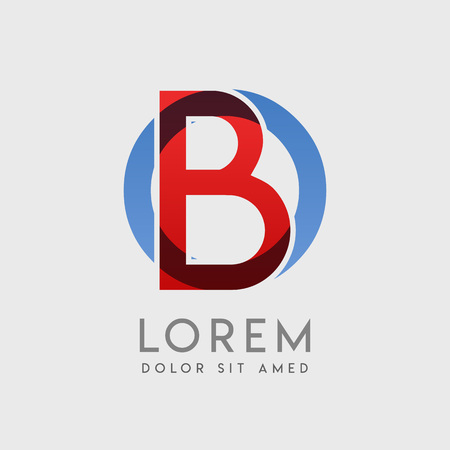 BO logo letters with blue and red gradation
