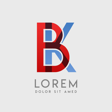 BK logo letters with blue and red gradation