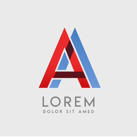 AA logo letters with blue and red gradation